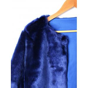 Open Front Faux Fur Short Coat -