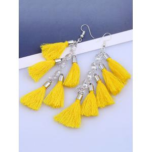 Rhinestone Statement Tassels Chain Earrings -
