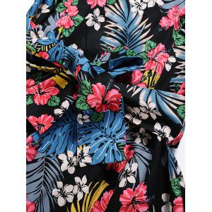 Vintage Tropical Print Pin Up Robe de patineuse - Floral S