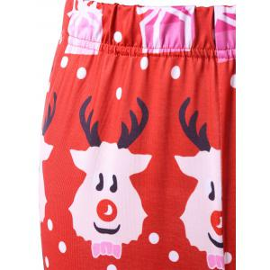 Cartoon Print Christmas Leggings - COLORMIX M