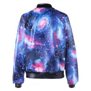 Raglan Sleeve Zip Up Galaxy Jacket -
