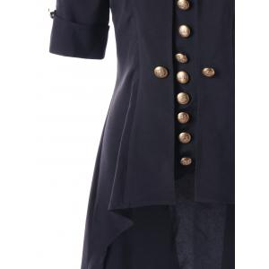 High Low Button Tunic Coat -