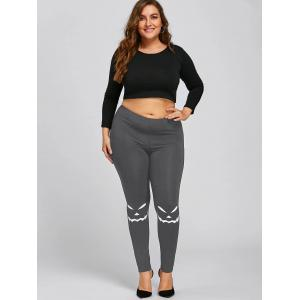 Halloween Plus Size Graphic Leggings -