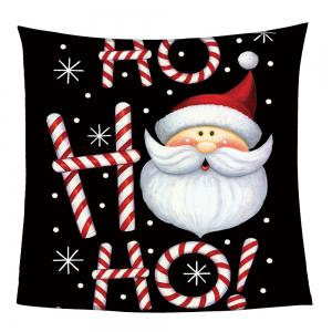 Cartoon Santa Claus Coral Fleece Sofa Blanket -