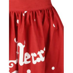 Christmas Polka Dot Sled A Line Skirt -