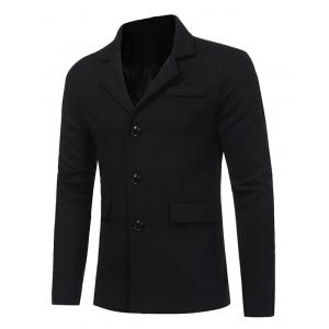 Single Breasted Pocket Woolen Coat -