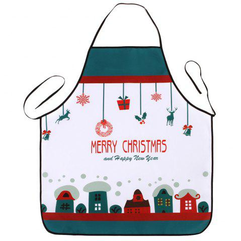 Cheap Christmas Cartoon House Print Waterproof Kitchen Apron