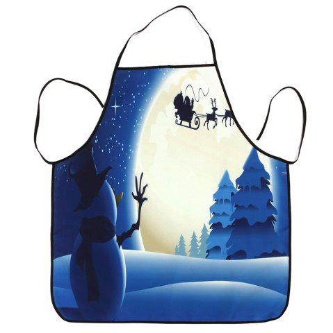 Shops Christmas Snowman Moon Waterproof Kitchen Apron