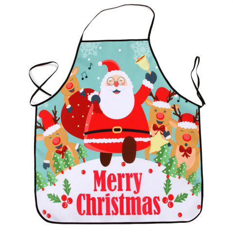 Outfits Christmas Santa Deers Print Waterproof Kitchen Apron - 80*70CM COLORMIX Mobile