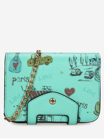 Chain Print Patchwork Crossbody Bag