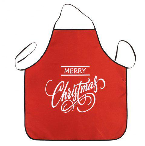 Online Merry Christmas Letters Print Waterproof Kitchen Apron