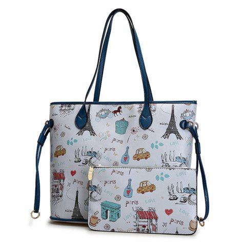 Outfit Print 2 Pieces Shoulder Bag Set