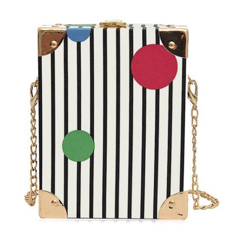 Shops Box Shape Metal Corner Crossbody Bag