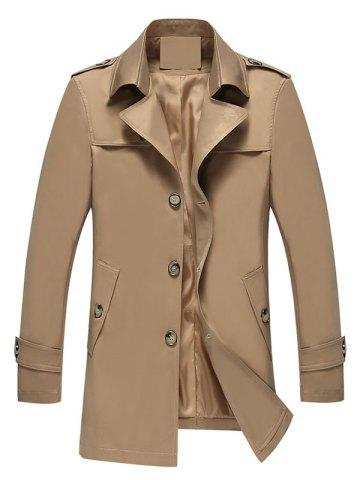 Affordable Longline Epaulet Single Breasted Coat