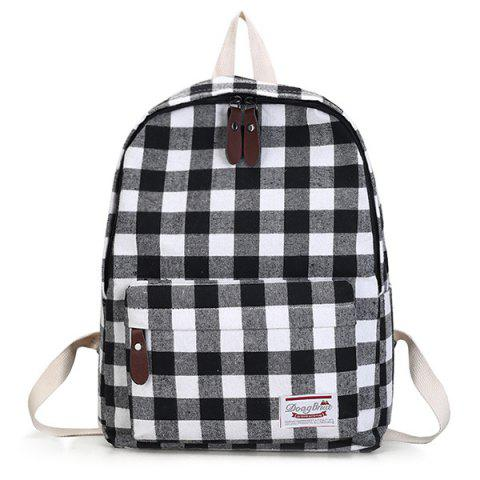 New Canvas Plaid Backpack