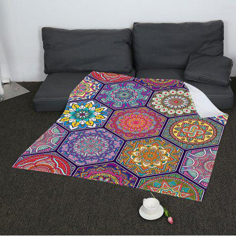 Chic Bohemian Geometries Printed Coral Fleece Blanket