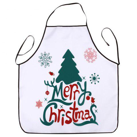 Cheap Christmas Tree Letters Print Waterproof Kitchen Apron