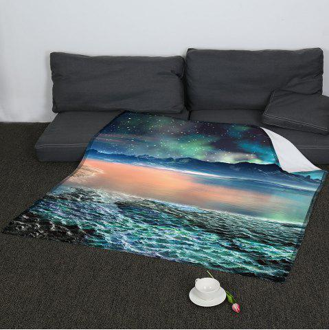 Online Coral Fleece Universe Galaxy Pattern Blanket