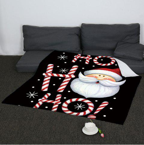 Fancy Cartoon Santa Claus Coral Fleece Sofa Blanket - W59INCH*L70INCH COLORFUL Mobile