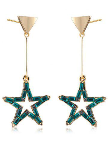 Faux Crystal Triangle Star Drop Earrings
