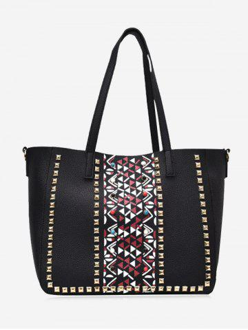Outfits 3 Pieces Geometric Studs Tote Bag Set