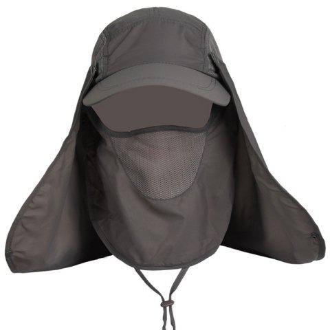 Shops Outdoor Sport Fisherman Detachable Quick Dry UV Protection Hat DARK GRAY