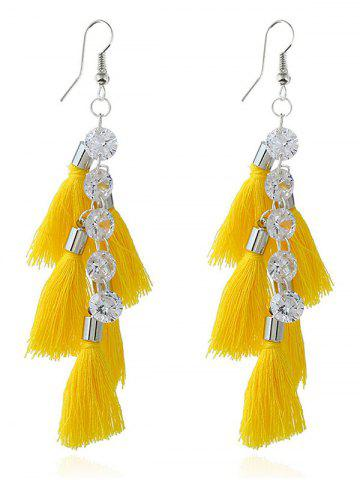 Outfits Rhinestone Statement Tassels Chain Earrings