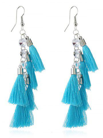 Best Rhinestone Statement Tassels Chain Earrings