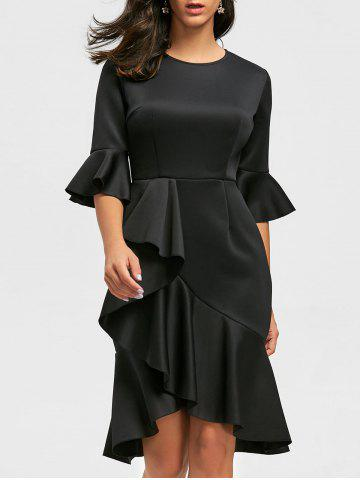 Trendy Flare Long Sleeve Ruffles Sheath Dress