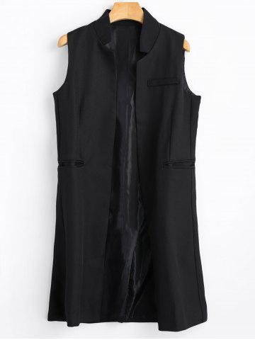 Chic Long Open Front Vest