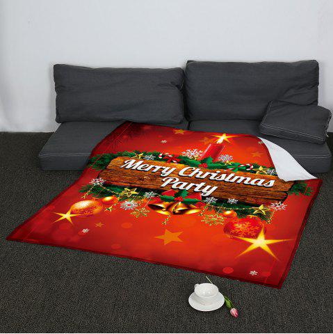 Best Colored Christmas Candle Pattern Coral Fleece Sofa Blanket