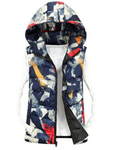 Best Zip Up Camo Hooded Quilted Vest