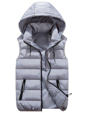 New Detachable Hood Zip Pocket Quilted Vest