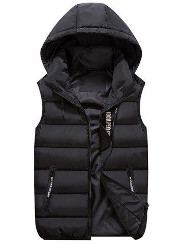 Shops Detachable Hood Zip Pocket Quilted Vest