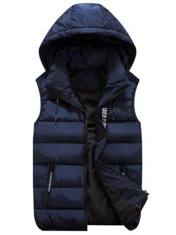 Latest Detachable Hood Zip Pocket Quilted Vest