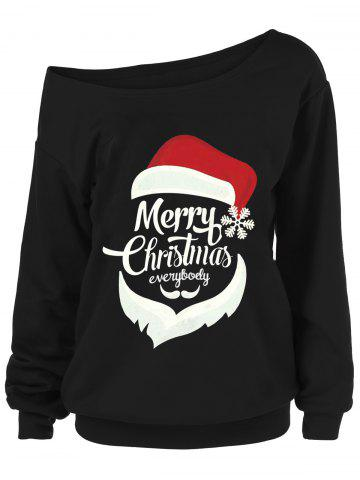 Outfits Merry Christmas Plus Size Santa Claus Sweatshirts