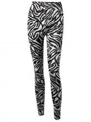 Zebra Stripe High Waist Leggings -