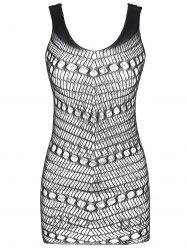 Openwork Short Lingerie Dress -
