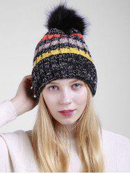 Outdoor Crochet Pom Knitted Slouchy Hat -