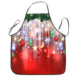 Christmas Ornaments Printed Waterproof Cooking Apron - RED 80*70CM
