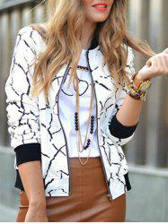 Print Zip Up Jacket -