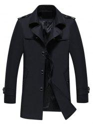 Longline Epaulet Single Breasted Coat -