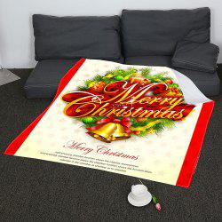 Merry Christmas Patterned Coral Fleece Blanket -