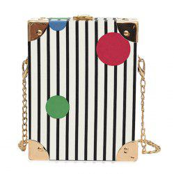 Box Shape Metal Corner Crossbody Bag -