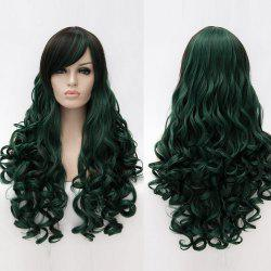 Long Side Bang Shaggy Curly Colormix perruque synthétique -