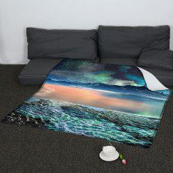 Coral Fleece Universe Galaxy Pattern Blanket -