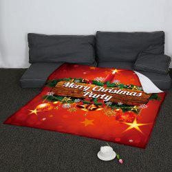 Colored Christmas Candle Pattern Coral Fleece Sofa Blanket - COLORFUL W47INCH*L59INCH