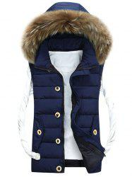 Zip Up Detachable Hood Padded Vest -