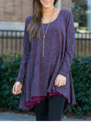 Long Sleeves Tunic Tee Dress -