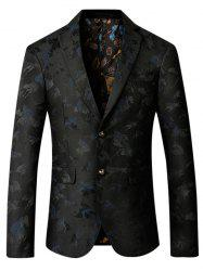 Single Breasted Riding Jacquard Blazer -